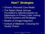 how strategies
