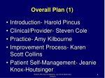 overall plan 1