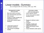 linear models summary qin and badgwell 2003 zhu and butoyi 2002 ljung 1999