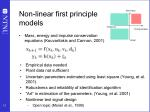 non linear first principle models