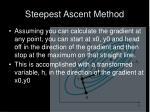 steepest ascent method