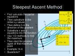 steepest ascent method9