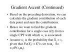 gradient ascent continued53