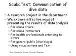 scubatext communication of dive data