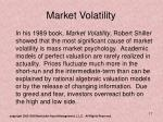 market volatility