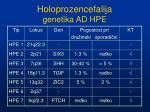 holoprozencefalija genetika ad hpe