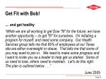get fit with bob