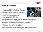 more about dow