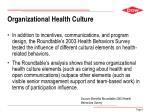 organizational health culture
