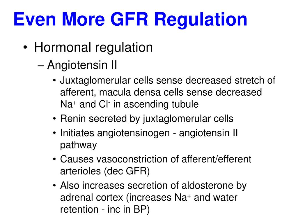 Even More GFR Regulation