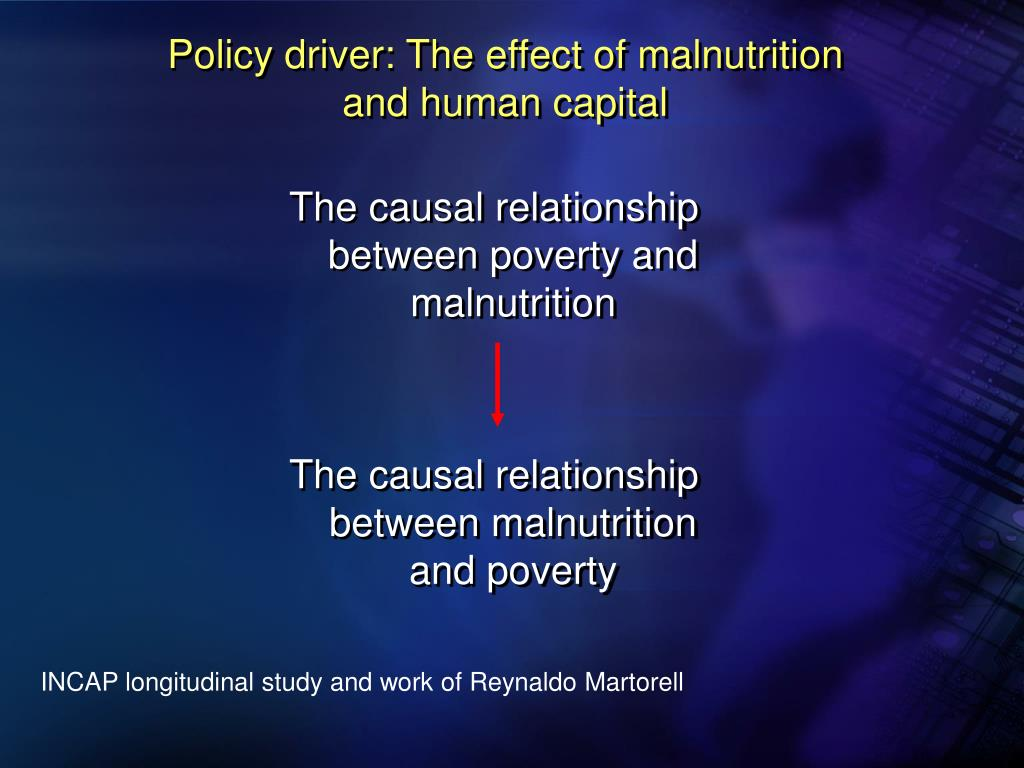 Policy driver: The effect of malnutrition