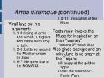 arma virumque continued