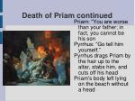 death of priam continued