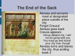 the end of the sack