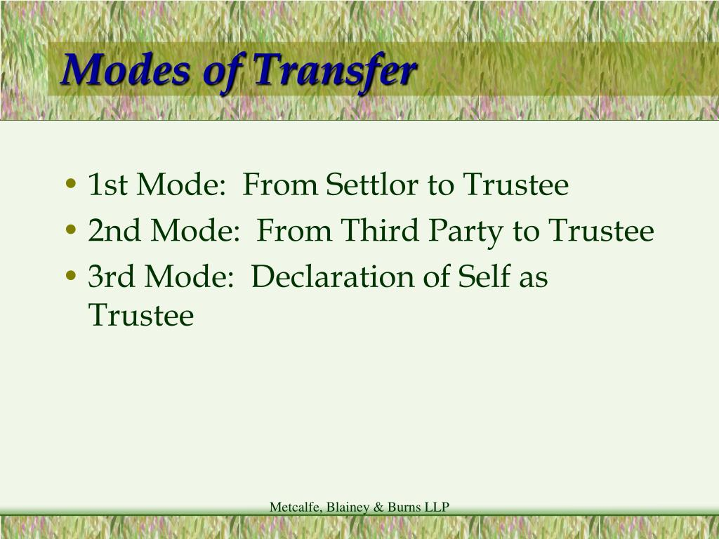 Modes of Transfer