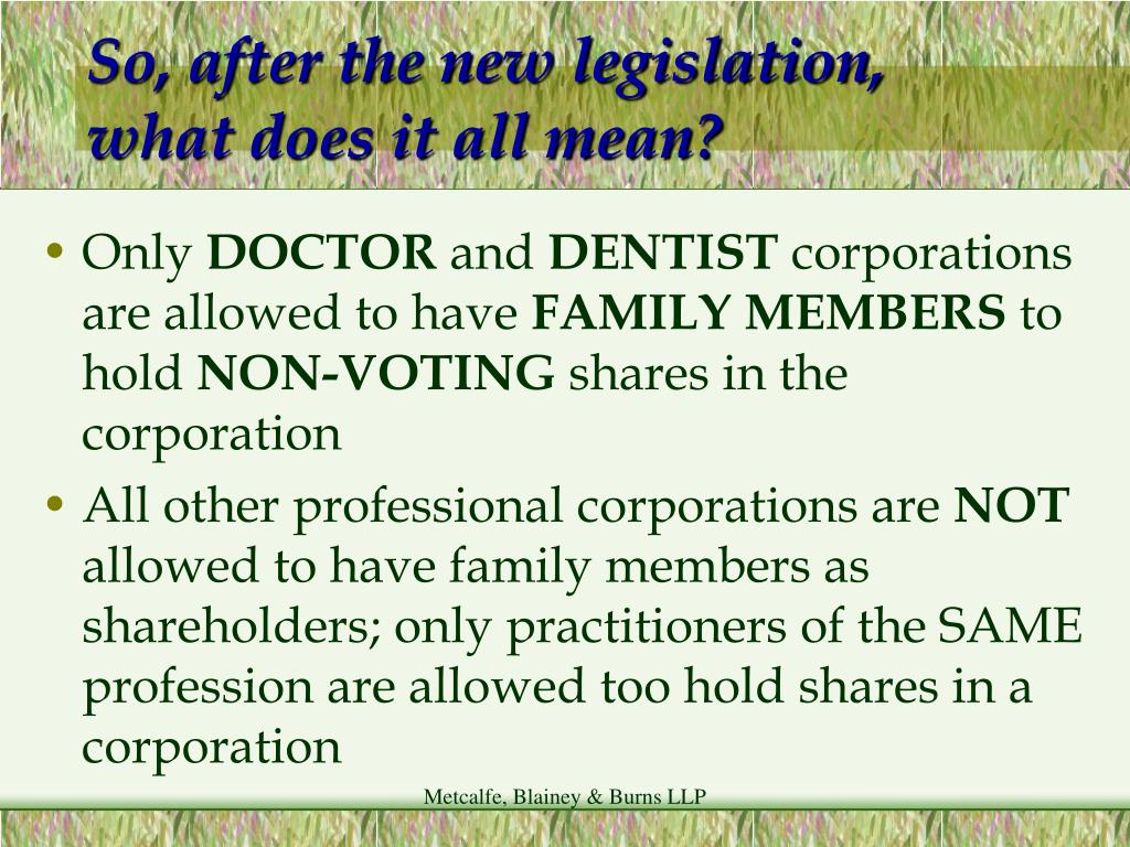 So, after the new legislation, what does it all mean?