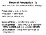 mode of production 1