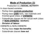 mode of production 3