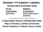 revolution from feudalism to capitalism