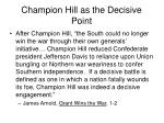champion hill as the decisive point1