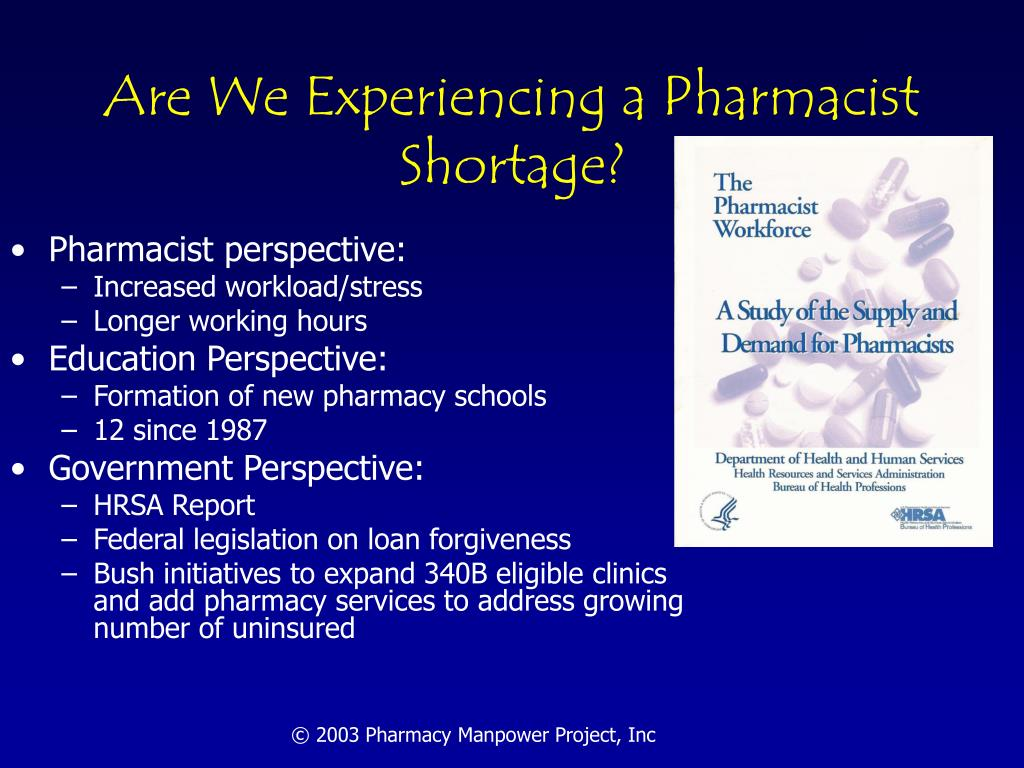 Are We Experiencing a Pharmacist Shortage?