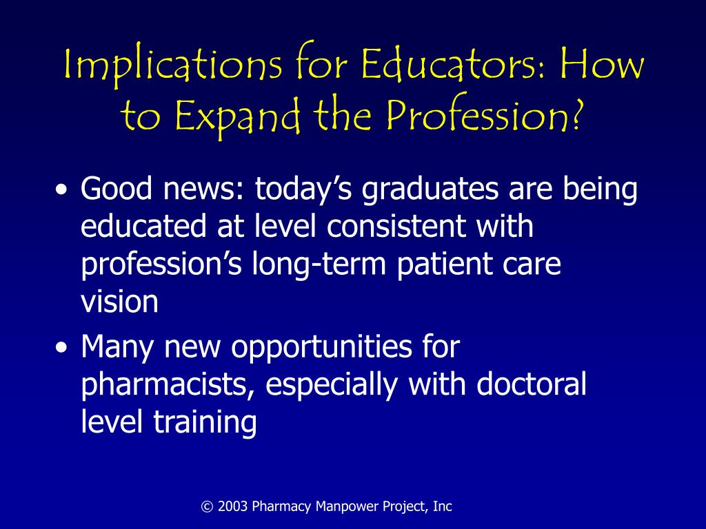 Implications for Educators: How  to Expand the Profession?