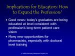 implications for educators how to expand the profession