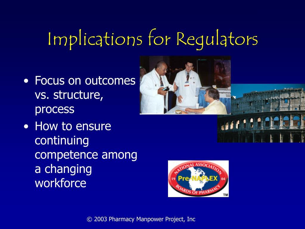 Implications for Regulators