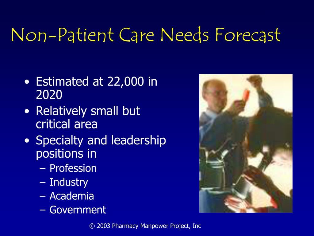 Non-Patient Care Needs Forecast