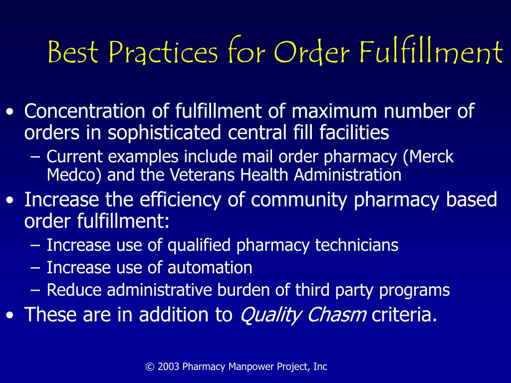 Best Practices for Order Fulfillment