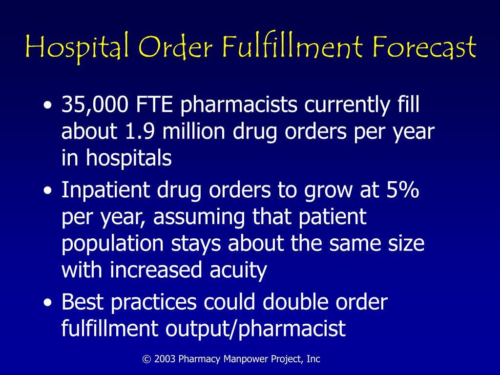 Hospital Order Fulfillment Forecast