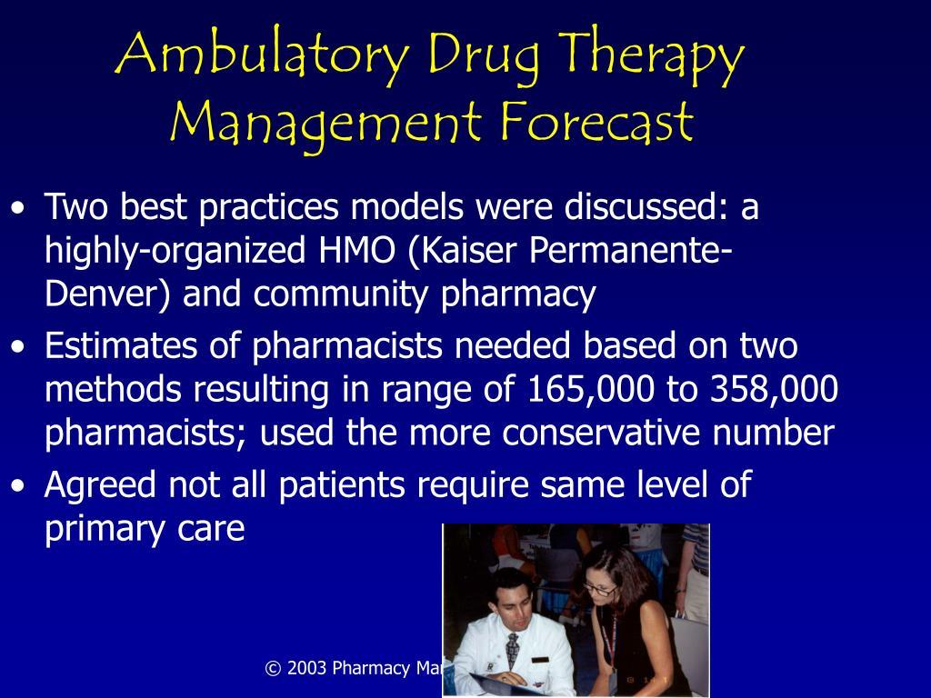 Ambulatory Drug Therapy Management Forecast
