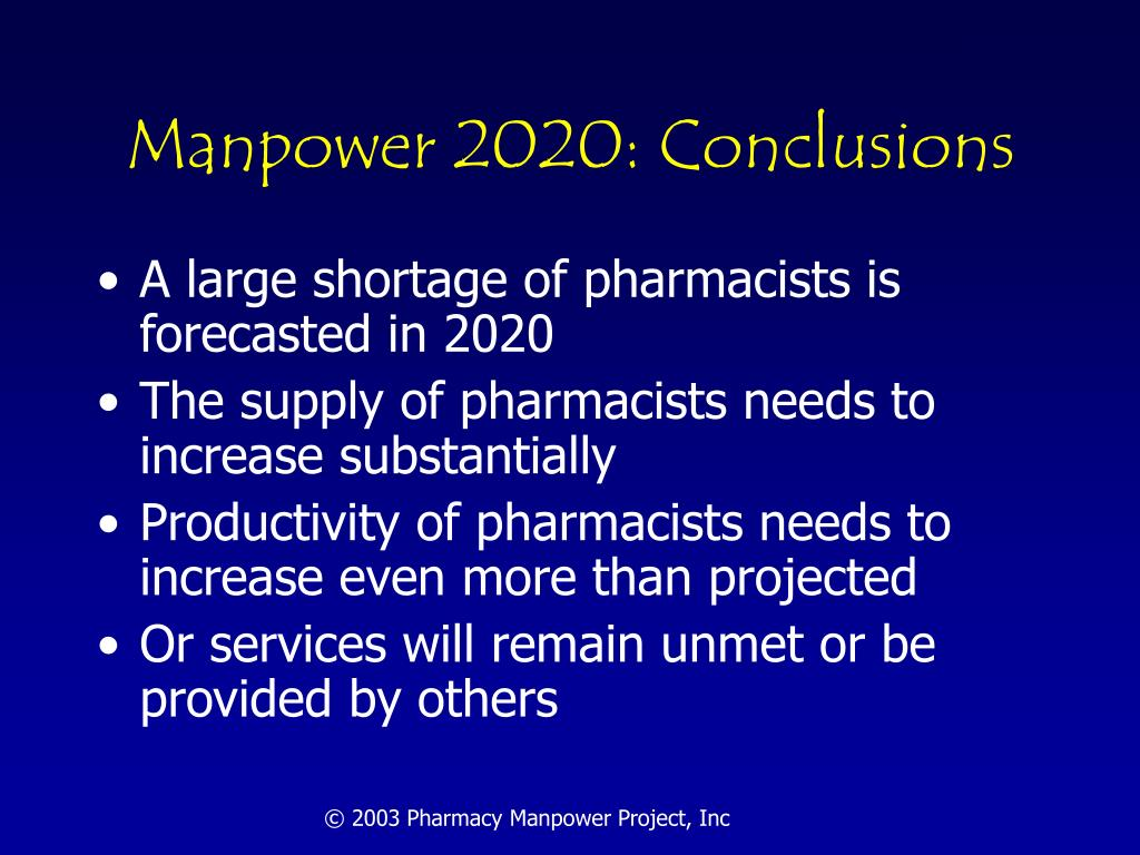 Manpower 2020: Conclusions