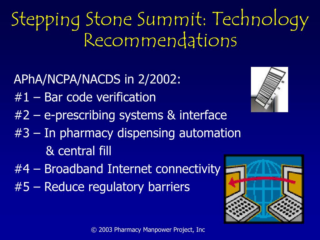 Stepping Stone Summit: Technology Recommendations
