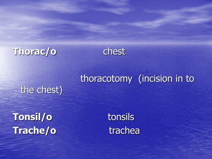 Thorac/o