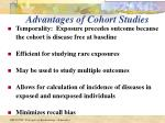 advantages of cohort studies