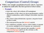 comparison control groups