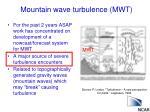 mountain wave turbulence mwt