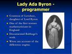 lady ada byron programmer