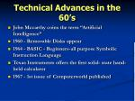 technical advances in the 60 s