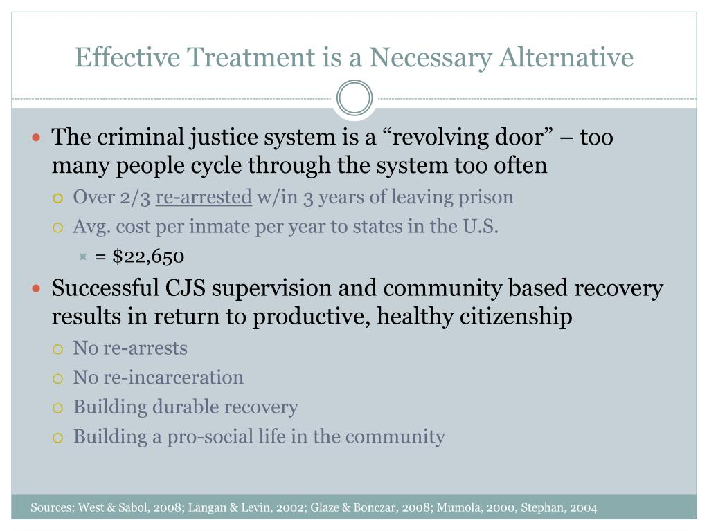 Effective Treatment is a Necessary Alternative