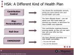 hsa a different kind of health plan