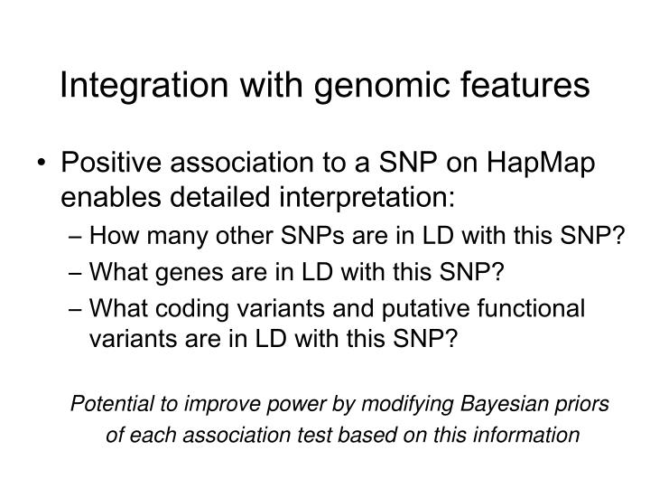 Integration with genomic features