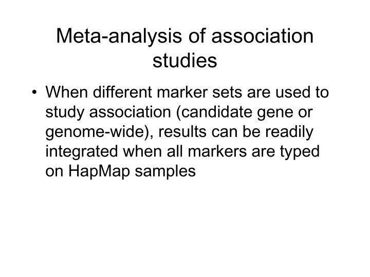 Meta-analysis of association studies
