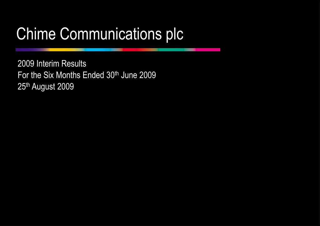 chime communications plc l.