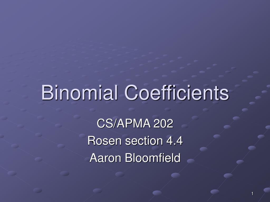 binomial coefficients l.
