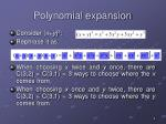 polynomial expansion