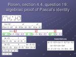 rosen section 4 4 question 19 algebraic proof of pascal s identity