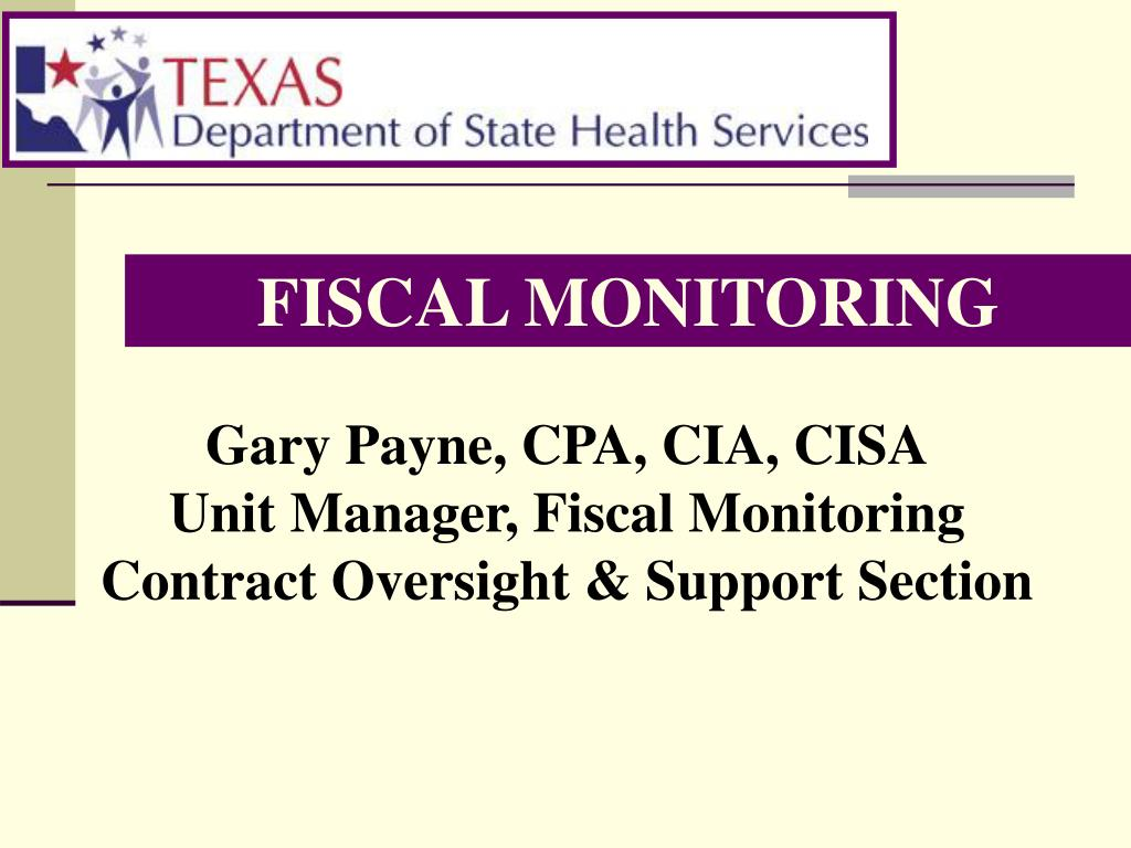 fiscal monitoring l.