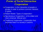 forms of social interaction cooperation